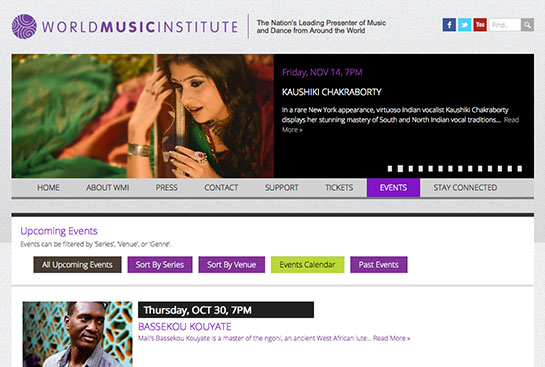World Music Institute website